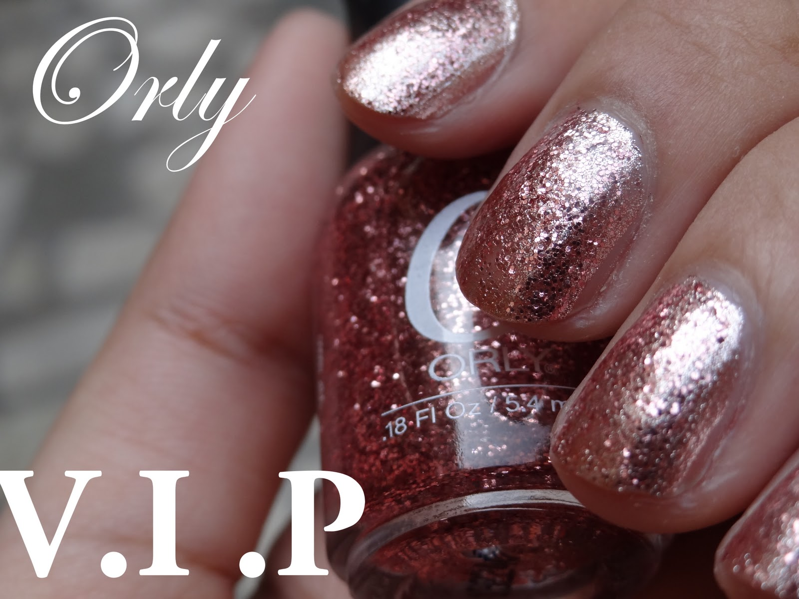 Orly VIP layered over Orly Rage