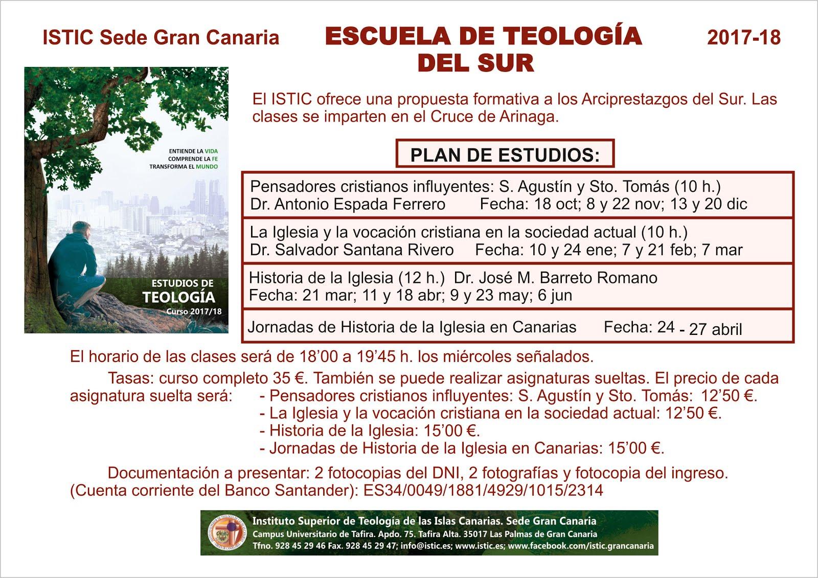 ESCUELA DE TEOLOGÍA DEL SUR.