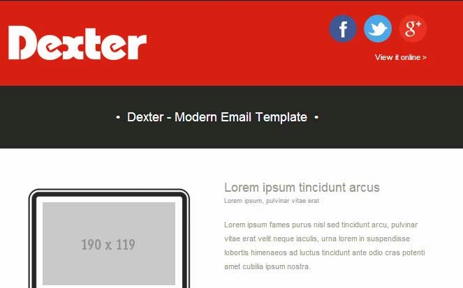 Dexter – Responsive HTML Email Template Pack