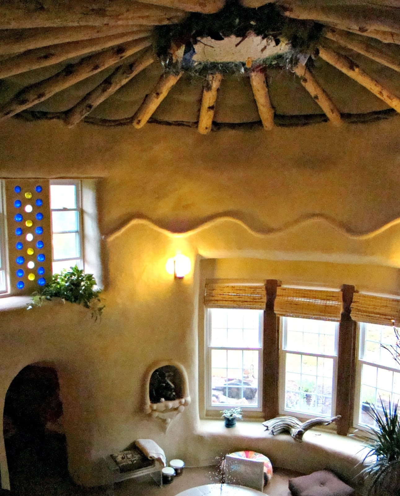 Bamboo interior design natural building blog - Strawbale Studio Built Mostly With Workshops Sweat Equity By The Owners Less Expensive With A Hand Built Aesthetic More Project Pics Here Beth S
