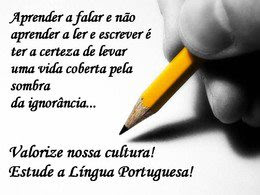ESTUDE A LÍNGUA PORTUGUESA!