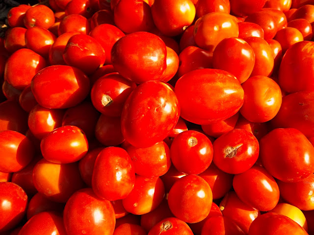 red ripe tomatoes close-up