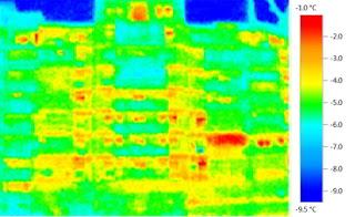 Bloc neizolat termic - termoviziune
