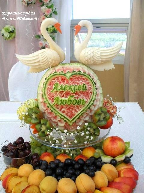 украшение стола фруктами на свадьбу южно-сахалинск