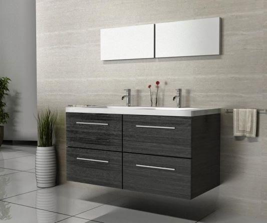 Meuble salle de bain ikea meuble d coration maison for Salle de bain meuble noir
