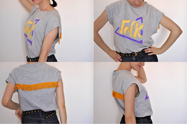 diy t-shirt print fringes
