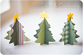 Mini árvore de natal de papel