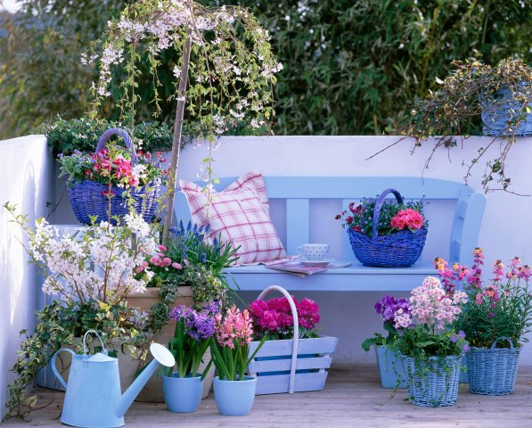 Backyard Flower Ideas : Spring Inspiration Patio garden designs for apartment and backyard!