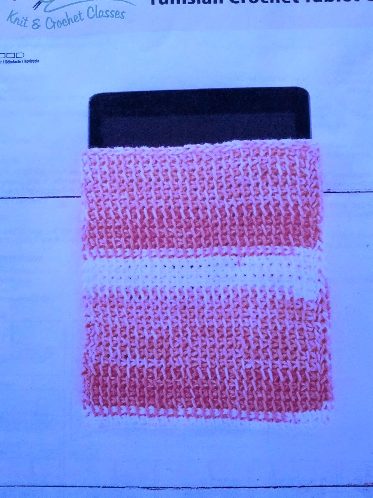 Tunisian Crochet Tablet Cover