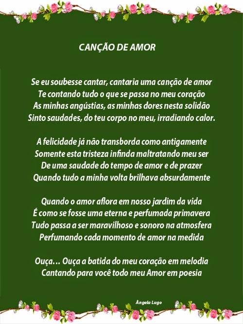 CANÇÃO DE AMOR