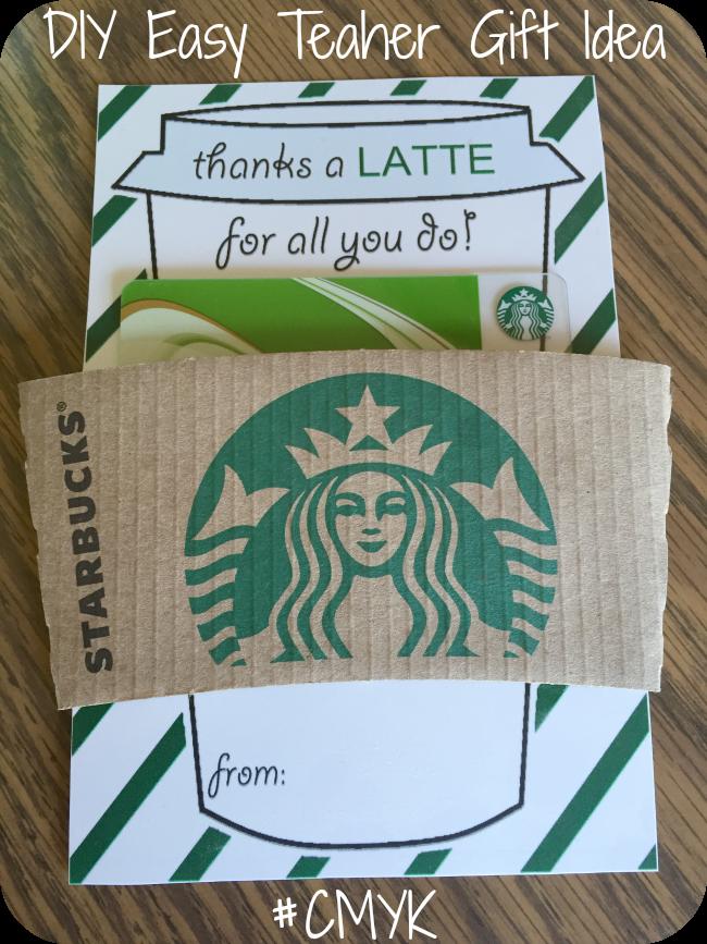Nanny To Mommy Thanks A Latte Super Easy Teacher Gift