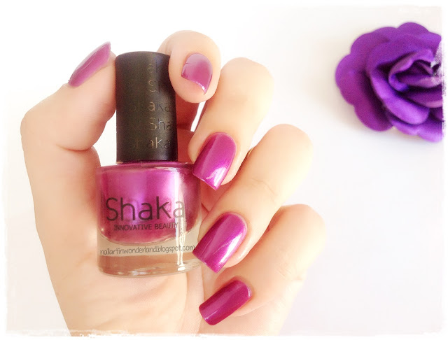 Shaka Innovative Beauty | Violet Pearl Nail Polish Swatch and Review