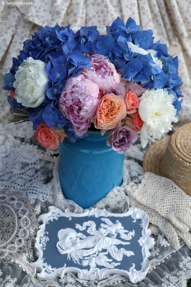 bouquet in shabby chic style