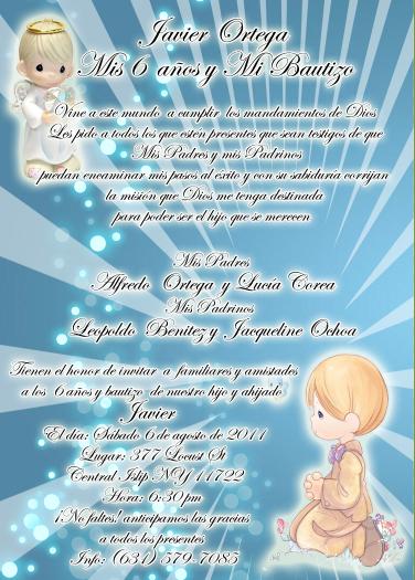 invitacion and and bautizo: