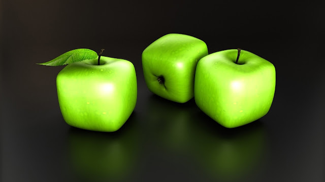 Apple Green Cubes