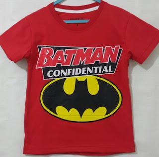 Baju Anak Karakter Batman Confiden Size 7 - 10 Tahun