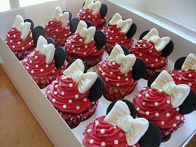MuyAmeno Cupcakes O Magdalenas De Minnie Mouse