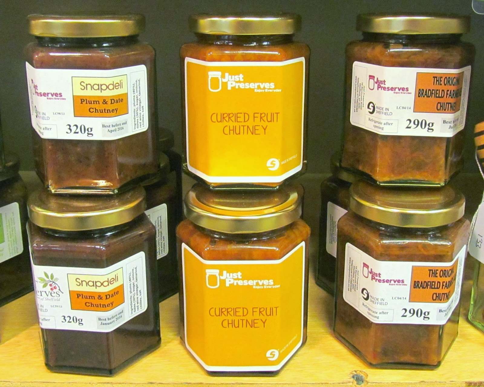 Chutneys by Just Preserves at Bird's Yard, Sheffield