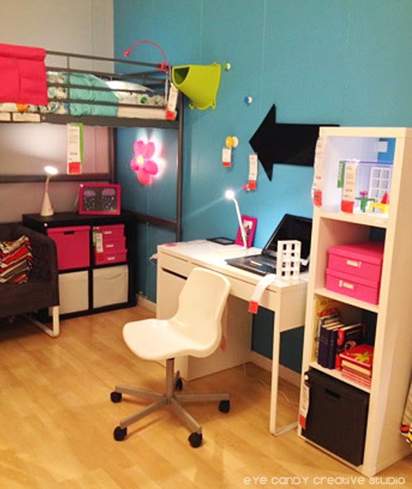 kids room ideas, IKEA kids room, arrow noard, bunk beds, desk, storage