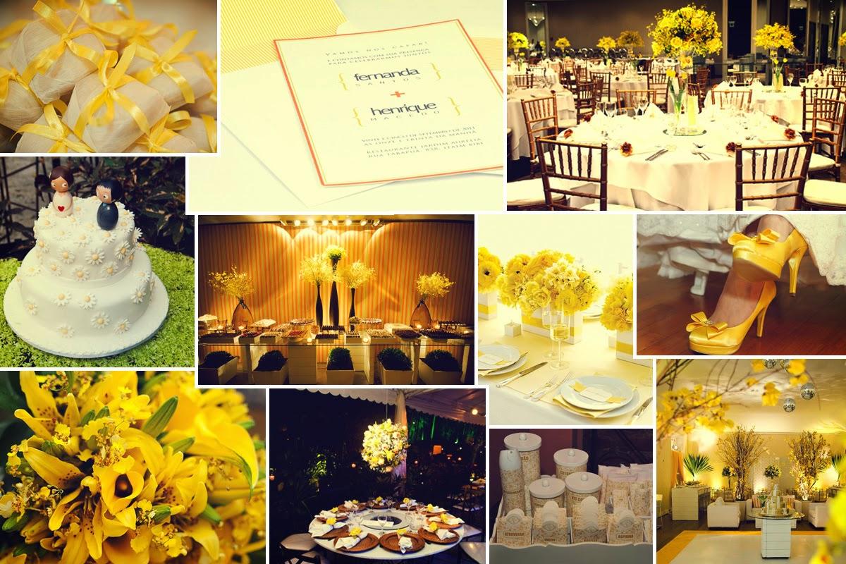 bem moderno decorações em amarelo são ótimas para eventos de dia