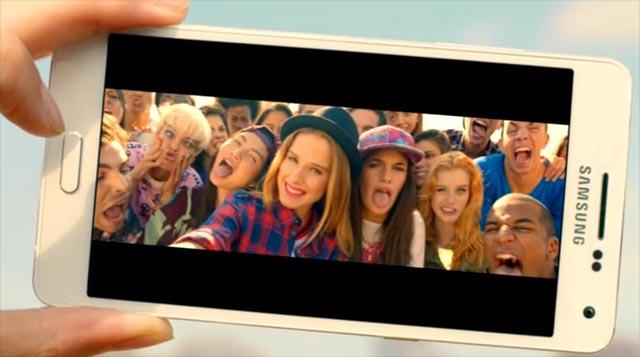 Selfie panorámico en el Samsung Galaxy A