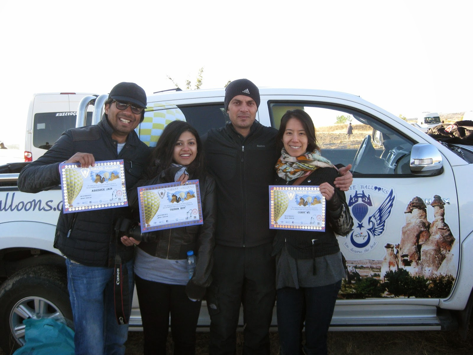 Cappadocia - We proudly show off our certificates