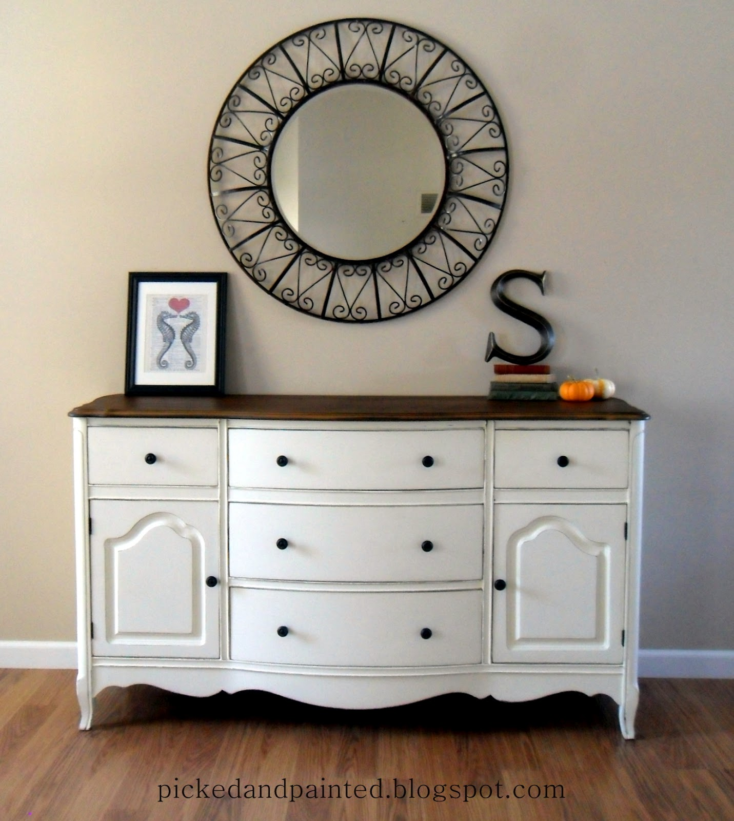 Helen nichole designs custom tv console for Furniture paint colors