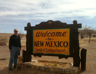 Randy and Natura at NM welcome sign