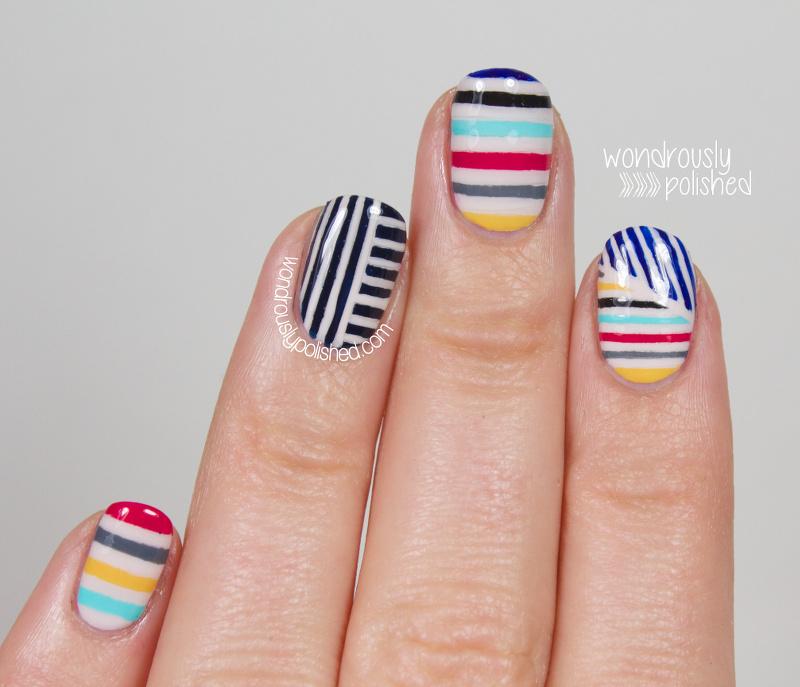 Wondrously Polished: The Beauty Buffs - Stripes Trend