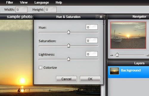 Tool Pixlr Editor  Warna Foto