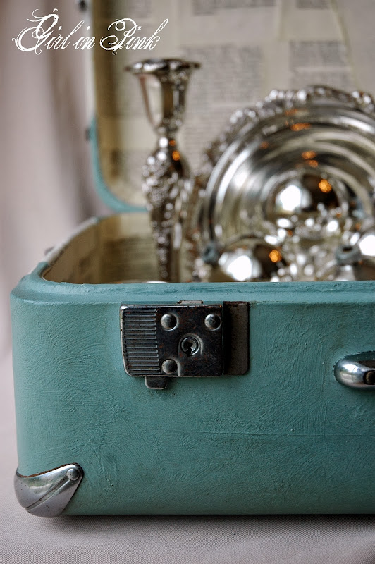 Decorative Vintage Suitcase Makeover