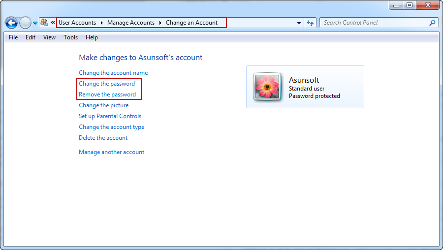 reset windows 7 administrator password from standard account