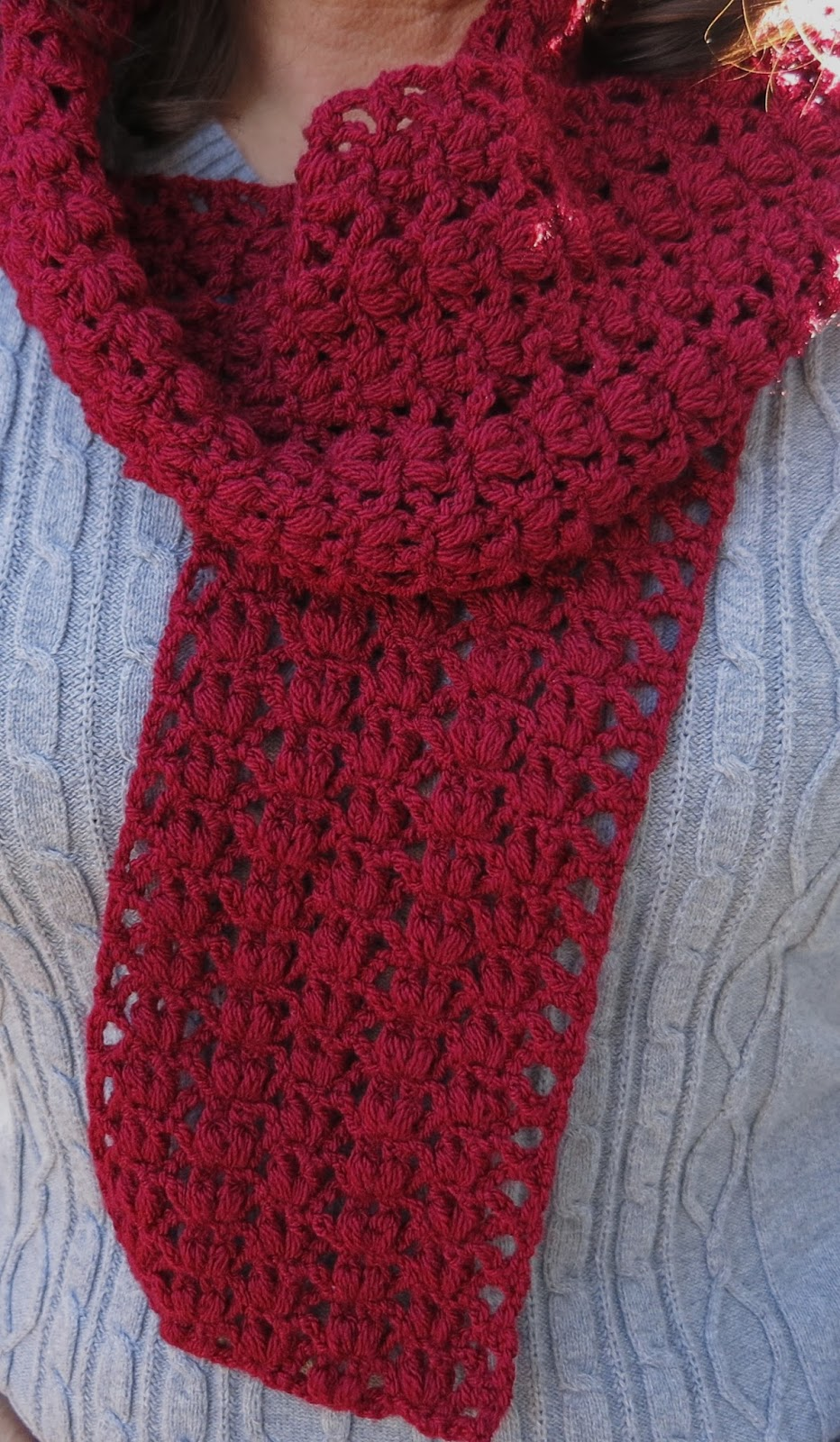 Da\'s Crochet Connection: Zig Zag Heart Scarf