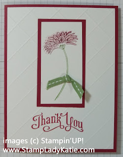 Card made with Reason to Smile the July Stampin'UP! Promotional set.