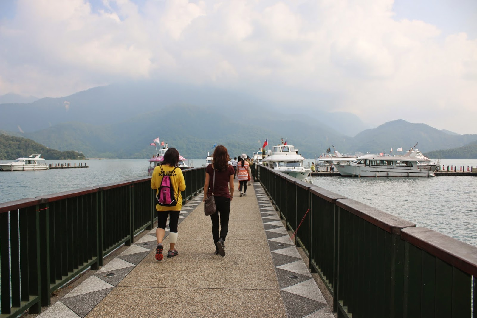 Heading for a ferry ride to enjoy the scenic view of Sun Moon Lake in Taiwan