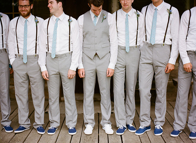 Wedding Suit Ideas For Groomsmen : The Groom gets the white pair of course . Photography by Austin ...