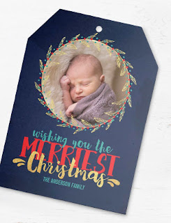 Die Cut Christmas Photo Cards