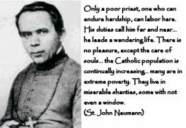 FEAST OF ST.  JOHN NEUMANN