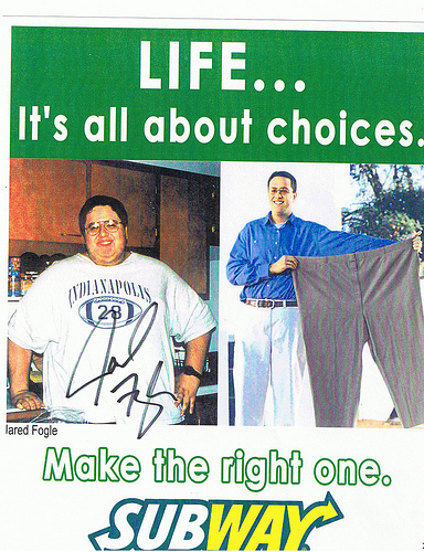 Subway's Jared loses hundreds of pounds