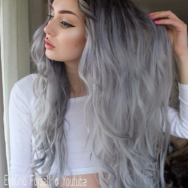silver - grey gorgeous hairstyles