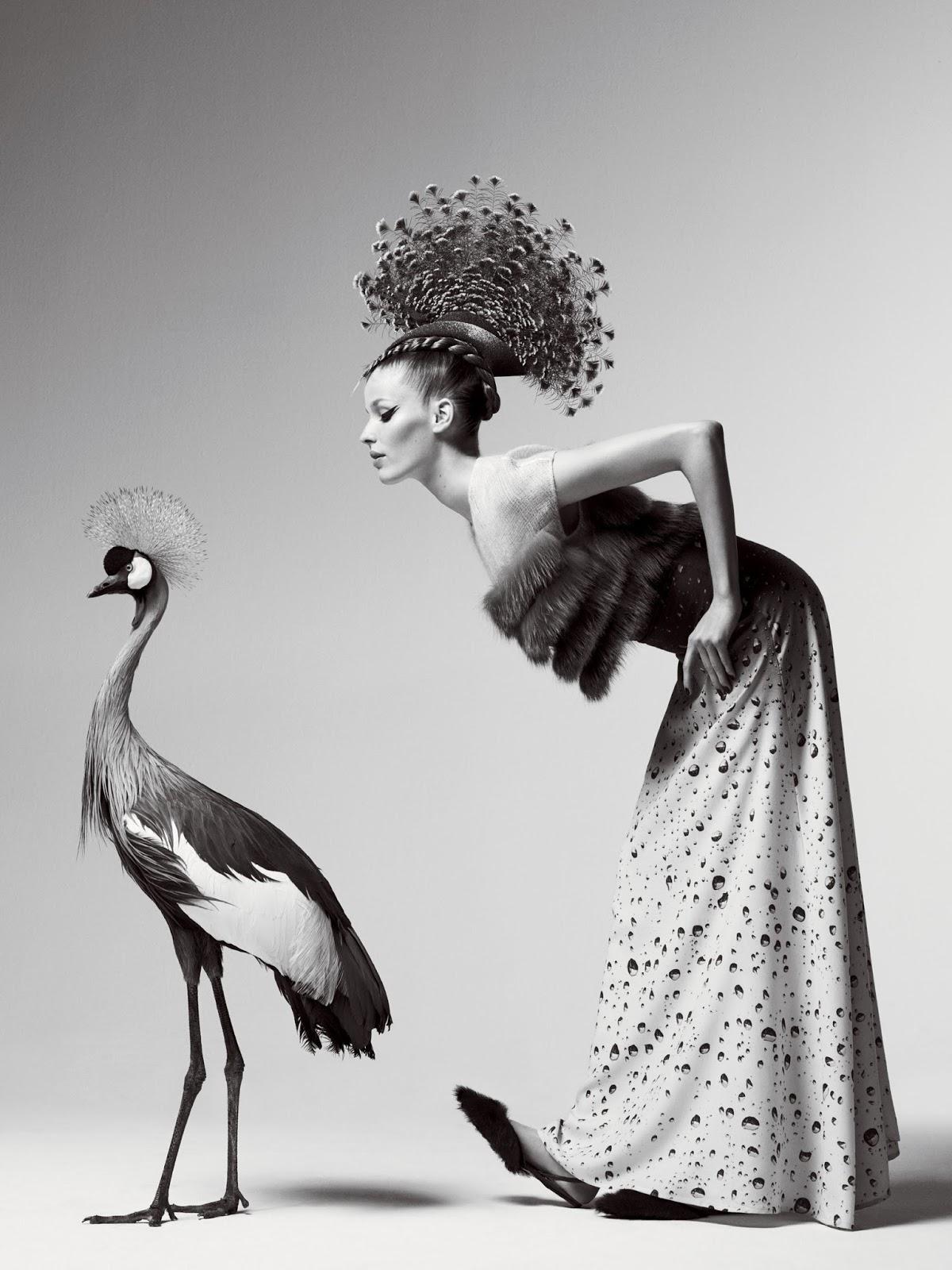 Fashion photography art black and white