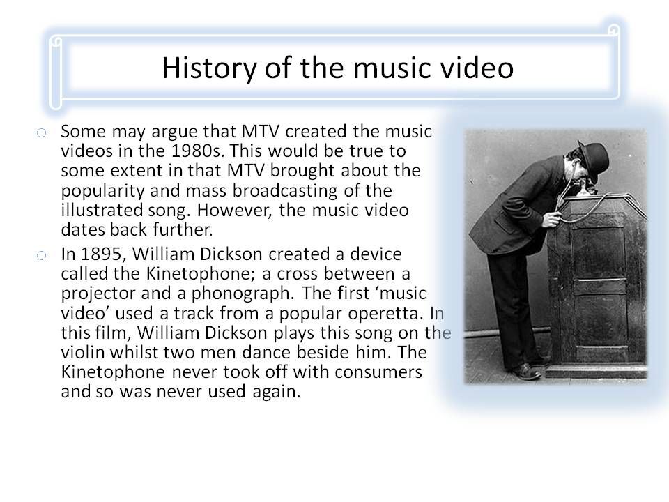 a history of the development of music The phonograph in 1877 the first phonograph was invented by thomas edison the phonograph was the first method of recording and playing back sound.