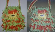 Bolso tipo mochila en tiras de cordon lycra