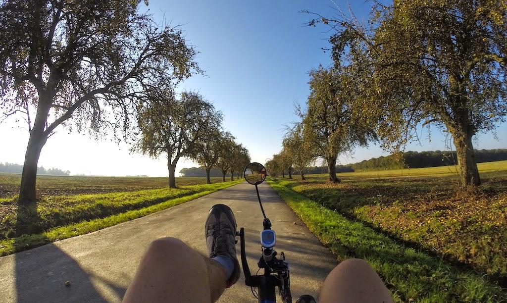 Balade à vélo couché