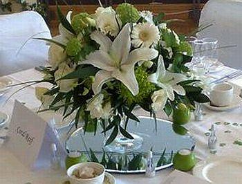 Centros de mesa con espejos for Espejos para mesa