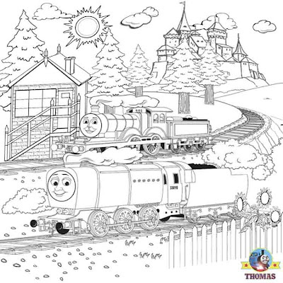 Yellow Molly the tank engine Murdoch Thomas and friends coloring pages printable picture worksheets