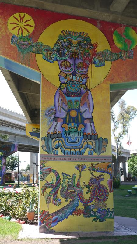 Colorful murals - Chicano Park Mural