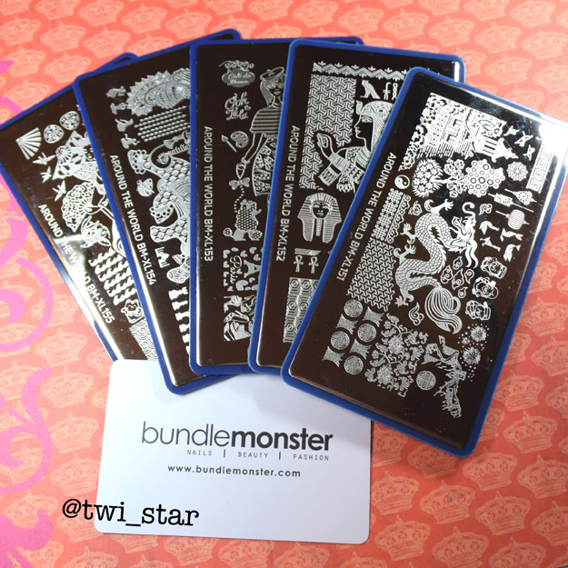 Bundle Monster Around The World stamping plate set review