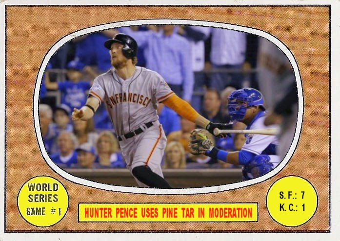 1967 Topps Style 2014 World Series Game 1
