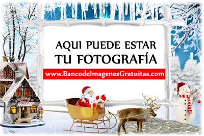 Marco PNG de Santa Claus para foto de familia